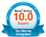 Superb 10 out of 10 Rating by avvo.com